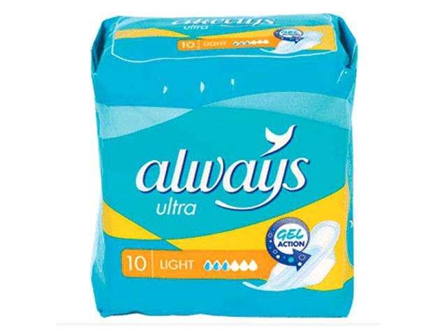 """Прокладки Always """"Ultra Light"""" (новая линия), 10 штук в упаковке"""