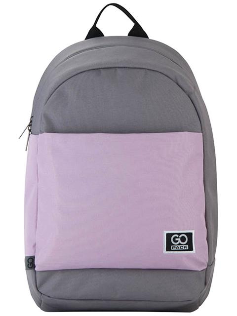 """Рюкзак подростковый GoPack """"City"""" серый-розовый, 46х29х15,5см"""