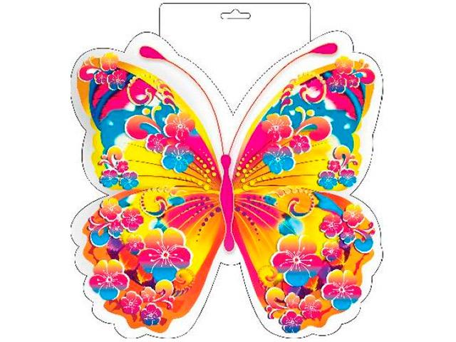 """Плакат вырубной """"Бабочка"""" розовая"""