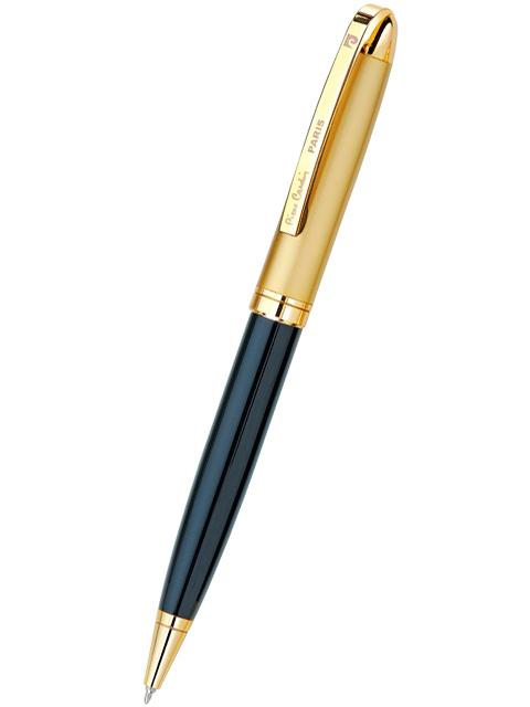 """Ручка шариковая с поворотным механизмом Pierre Cardin """"GAMME"""", корпус черный/золотистый, в подарочной упаковке"""