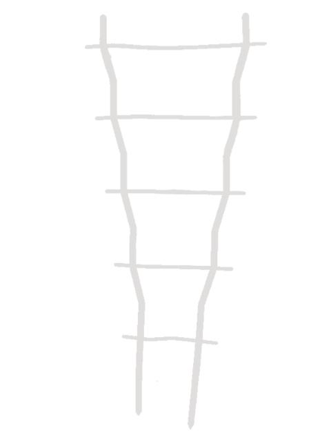 """Решетка для вьюнов """"Волна"""" - 40 см"""