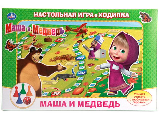 """Игра настольная """"Маша и Медведь"""" ходилка, в коробке"""