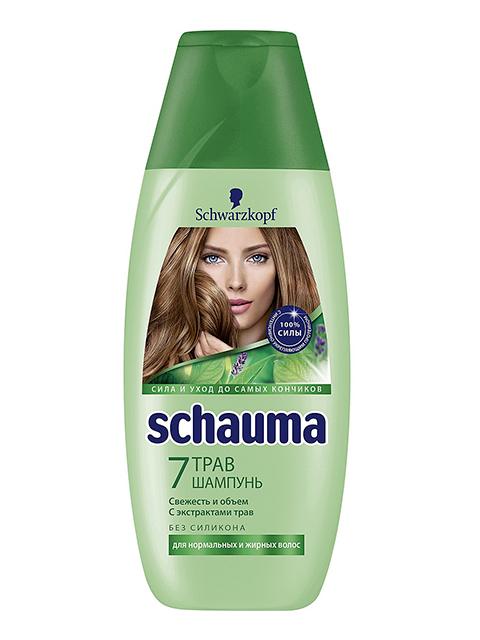 """Шампунь Schauma """"7 трав"""" для нормальных и жирных волос Schauma 380мл."""
