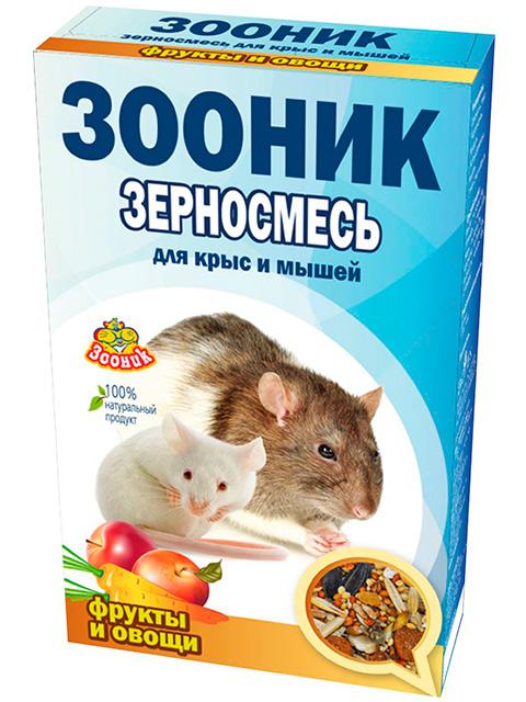 """Зерносмесь для крыс и мышей """"Зооник"""" Фрукты и овощи 400г"""