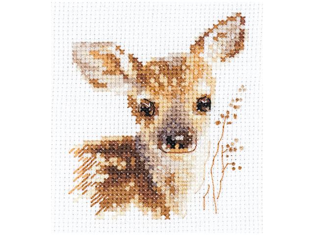 """Набор для вышивания Алиса """"Вышивка крестом. Животные в портретах. Олененок"""" 7х9 см"""