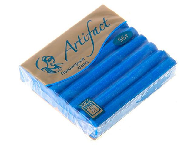 """Пластика """"Артефакт"""" с блестками синий, 56гр."""