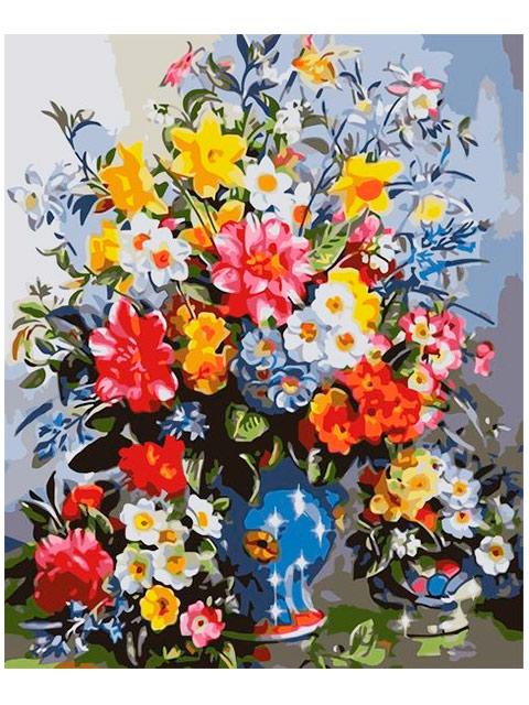 """Картина по номерам Colibri """"Весенние цветы"""" 40*50см"""