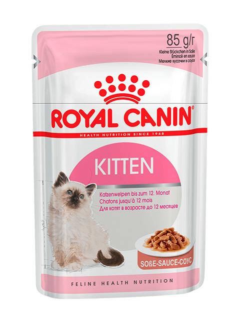 Корм РК Киттен (в соусе) 0,085кг (для котят до 12 месяцев)
