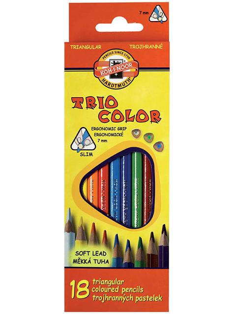 """Карандаши цветные KOH-I-NOOR """"Trio Color"""" 18 цветов"""