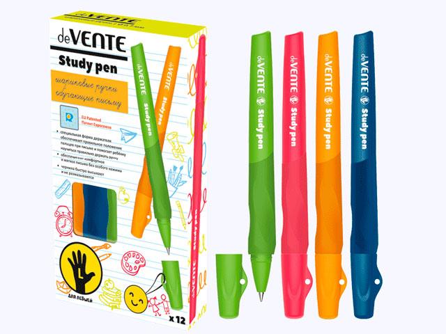 """Ручка шариковая """"deVENTE. Study"""" 0,7мм., обучающая письму, для левшей, синяя"""
