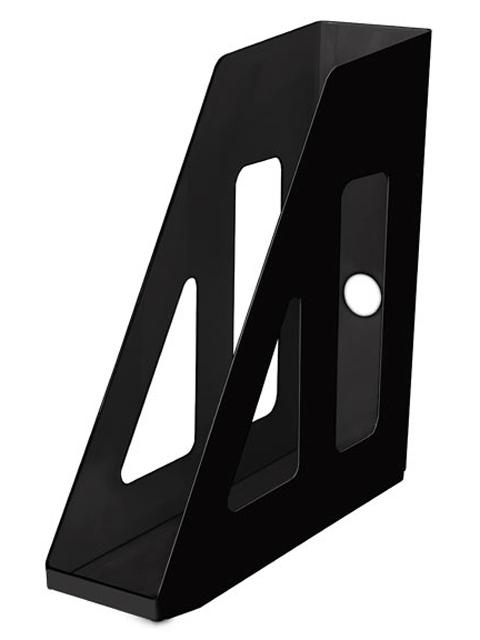Лоток для бумаг СТАММ Актив, вертикальный, непрозрачный, черный