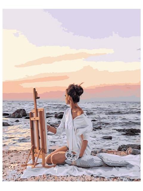 """Картина по номерам Colibri """"Рисование на пляже"""" 40*50см"""