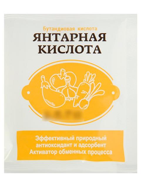 Янтарная кислота, 5г (бутандиовая кислота)