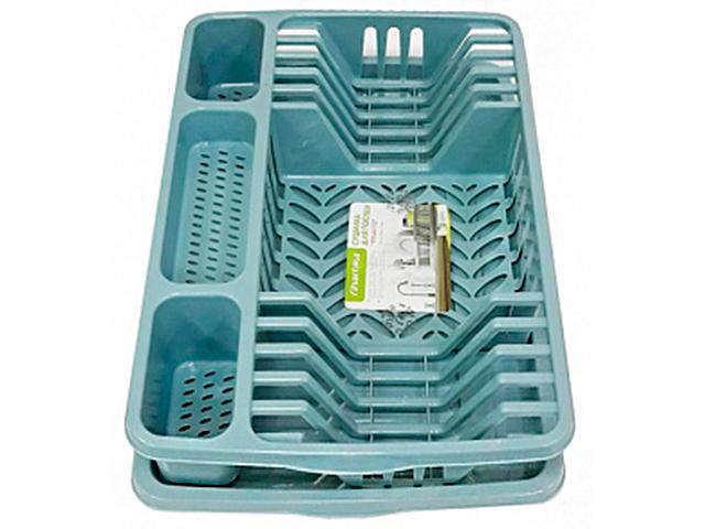 "Сушилка для посуды ""Фланто"" 508х338мм., бирюзовая"