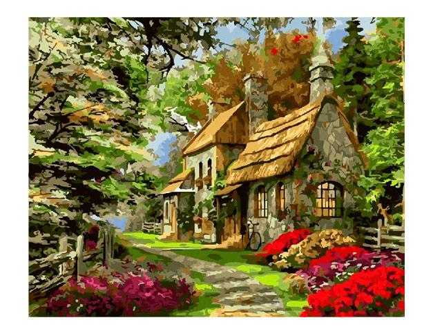"Картина по номерам ""PaintBoy. Усадьба в лесу"" 40*50 см"