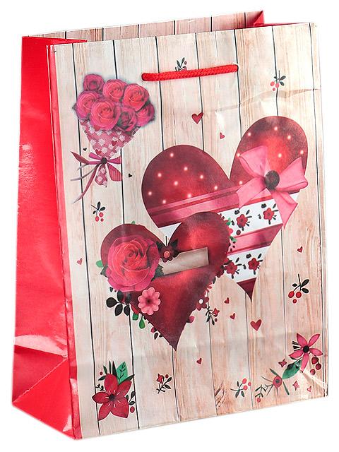 """Пакет подарочный бумажный 18х23х8,5 """"Романтика 2"""" ламинированный"""