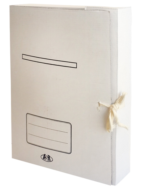 Папка архивная с завязками 45мм белая
