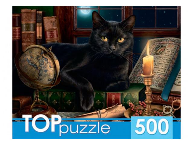 """Пазлы 500 элементов 485х345 Рыжий кот """"Toppuzzle. Черный кот"""""""