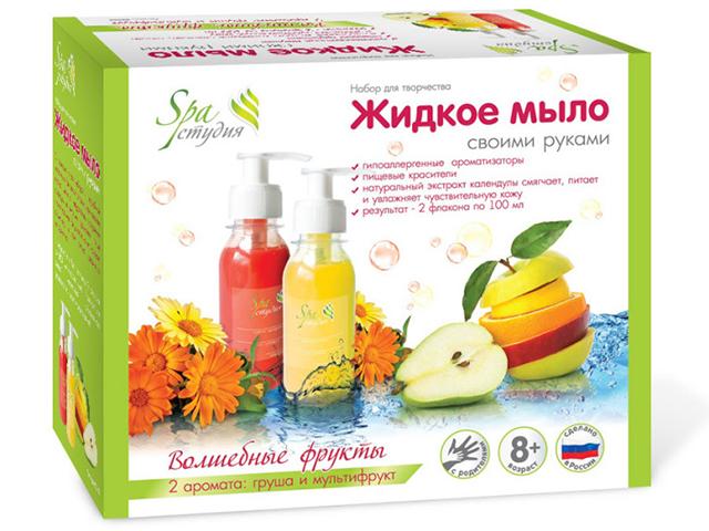 """Набор для творчества """"Жидкое мыло своими руками. Волшебные фрукты"""" 2 аромата: груша и мультифрукт"""