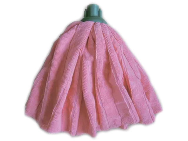 """Насадка для швабры МОП """"МультиПласт. Умничка"""" 120г. юбка розовая, с резьбовым"""