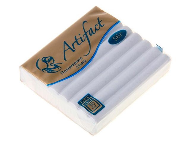 """Пластика """"Артефакт"""" с блестками белый, 56гр."""