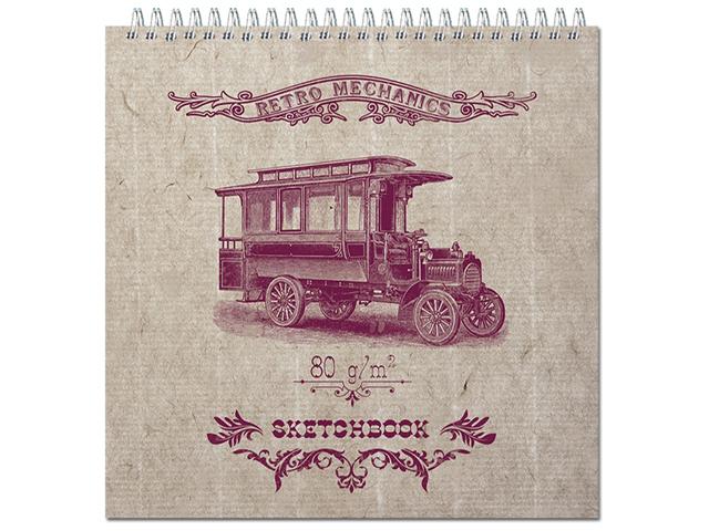 "Блокнот А5 60 листов Полином ""Sketchbook"" 190х190 мм, 80г/м2, офсет, на гребне"