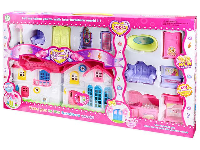 "Дом для кукол ""Коттедж мечты"" 61х36 см, мебель"