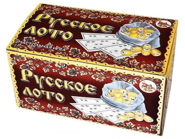 """Лото """"Русское лото"""" деревянное, в картонной коробке"""