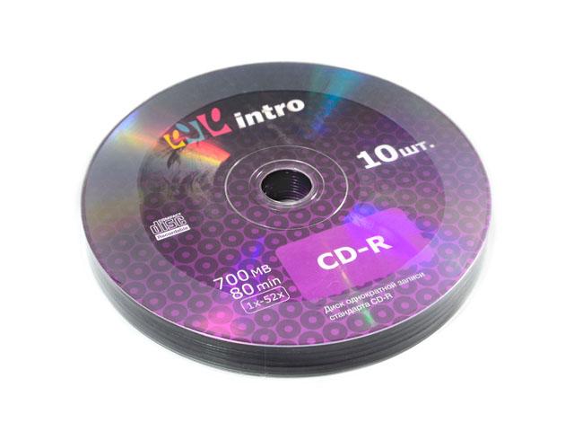 Диск CD-R Intro 700 Мб 52х Shrink 50