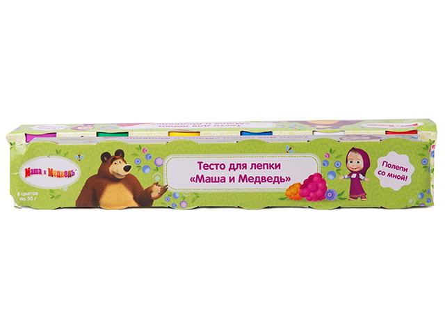 """Тесто для лепки """"Маша и Медведь"""", 6х50 грамм"""