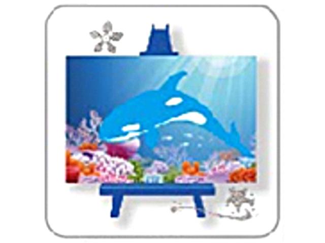 """Алмазная мозаика """"Синяя косатка"""" 10х15 см, с мольбертом"""