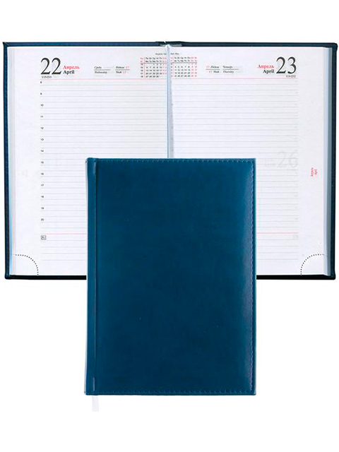 """Ежедневник датированный 2020 А5 168 листов Апплика """"Sorrento. Синий"""" обложка исскуственная кожа"""