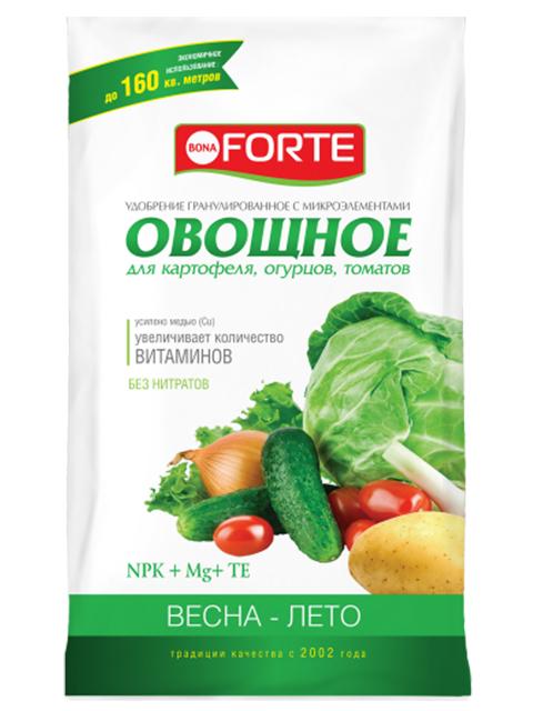 Bona Forte Овощное с микроэлементами, 1 кг, комплексное, гранулированное с микроэлементами