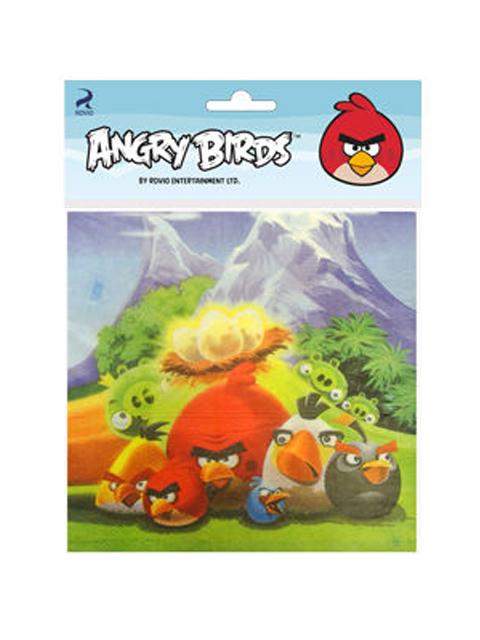 """Салфетки бумажные Пати бум """"Angry Birds"""" 20шт. в упак."""