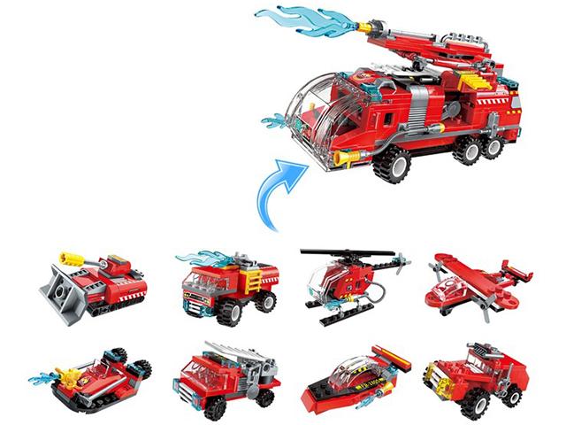"""Конструктор Qman """"Пожарные. Транспорт"""" 35 деталей"""