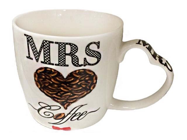 "Кружка ""Кофе Мистер и Миссис "" 320 мл, фарфор"