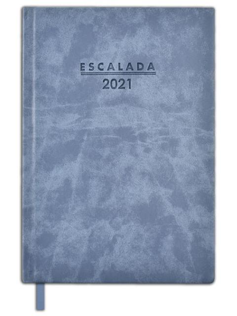 """Еженедельник датированный А5 80 листов Феникс+ """"Escalada 2021. Soft-tuch Delave"""" голубой, твердый переплет"""