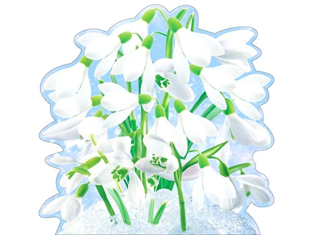 """Украшение """"Первоцветы в снегу"""" на скотче (цена за 1шт.) [88.567]"""
