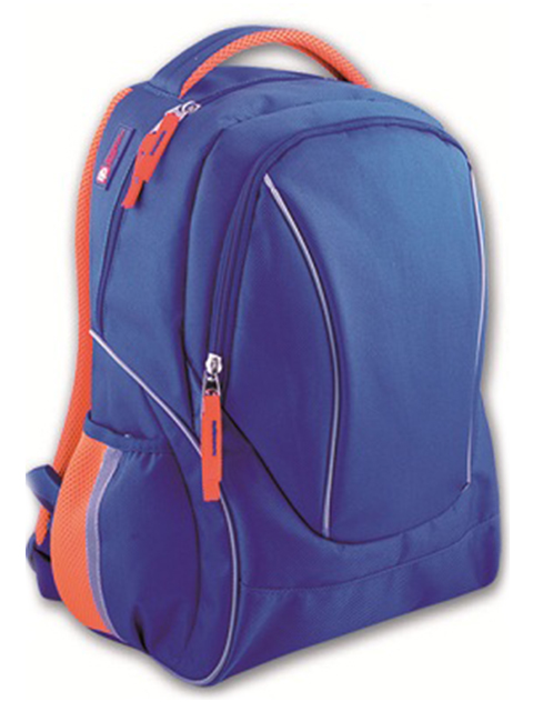 Рюкзак подростковый Феникс+ 45х36х18 см, синий + оранжевый