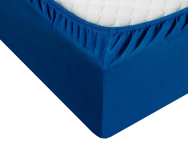 Простыня 140х200см Трикотаж на резинке, темно- синий