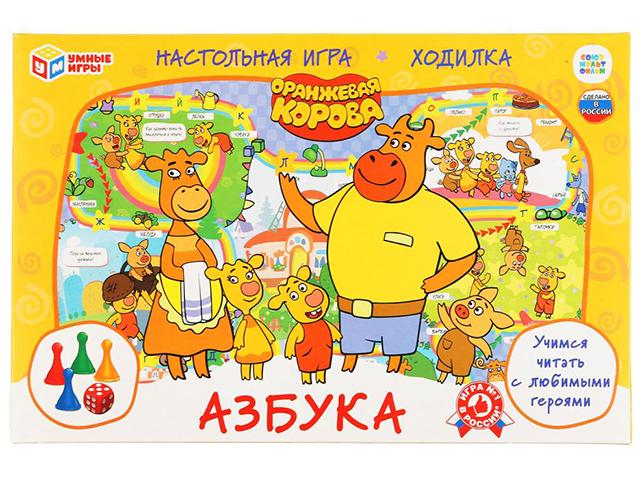 """Игра настольная """"Азбука. Оранжевая корова"""" ходилка"""