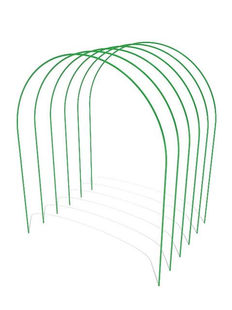 Дуга парниковая металлическая в ПВХ длина 2,5м (Комплект 6 штук)