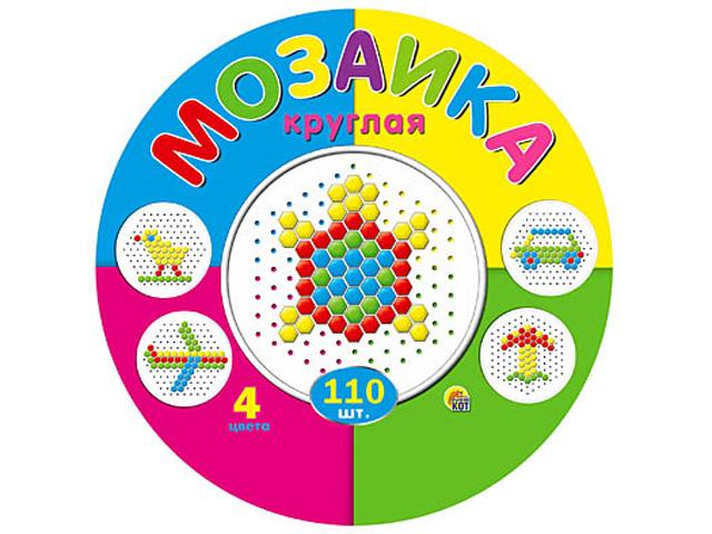 Мозаика 110 шт, d-13 мм, 4 цветов, шестигранные фишки, в пластиковой упаковке