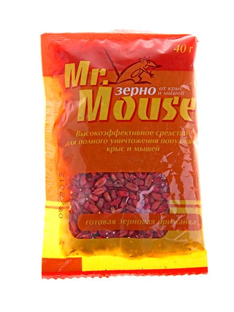 Зерно Mr.Mouse от грызунов 40 гр, пакет