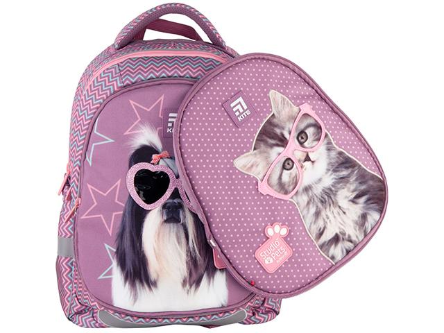 """Рюкзак школьный KITE """"Education Studio Pets"""" фиолетовый, каркасный"""
