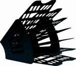 Лоток для бумаг СТАММ 7-ми секционный 6 отделений черный